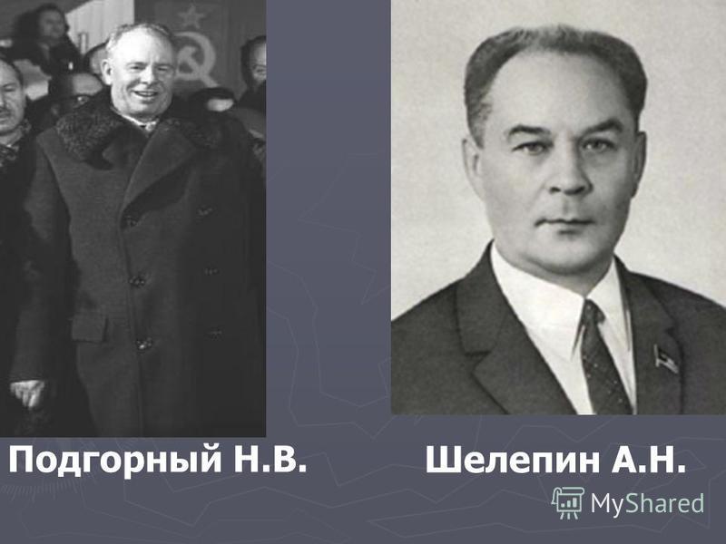Подгорный Н.В. Шелепин А.Н.