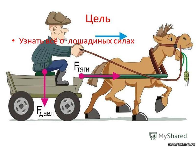 Цель Узнать всё о лошадиных силах