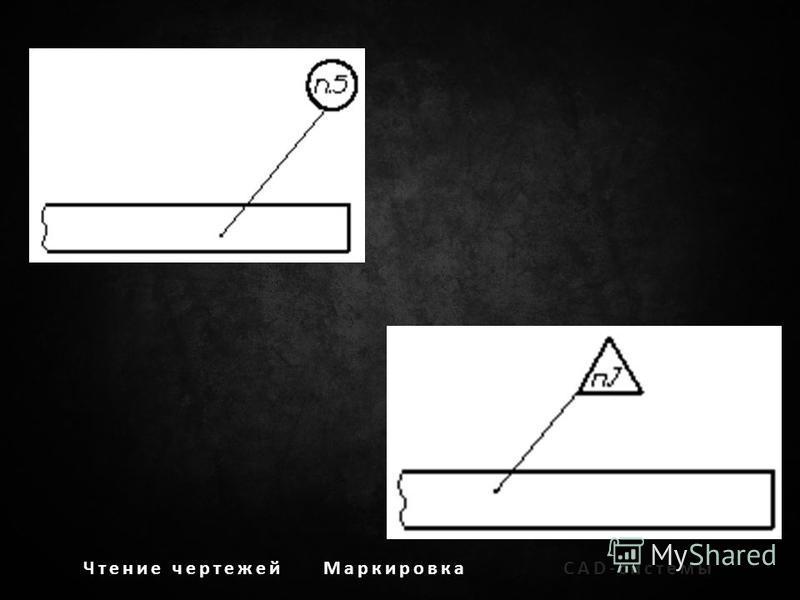 Чтение чертежей МаркировкаCAD-системы