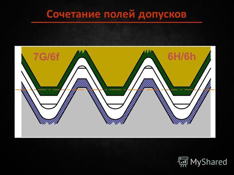 Сочетание полей допусков 6H/6h 7G/6f
