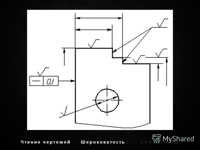 Чтение чертежей ШероховатостьCAD-системы