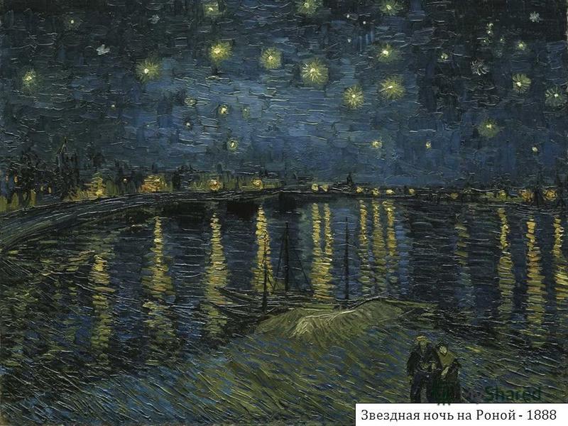 Звездная ночь на Роной - 1888