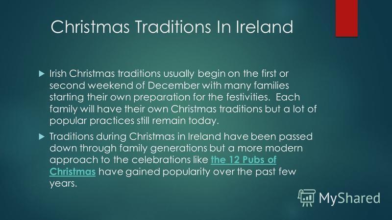 Irish Christmas Traditions.Prezentaciya Na Temu Hojyyeva Gulshen Gurbanova Aiyaly