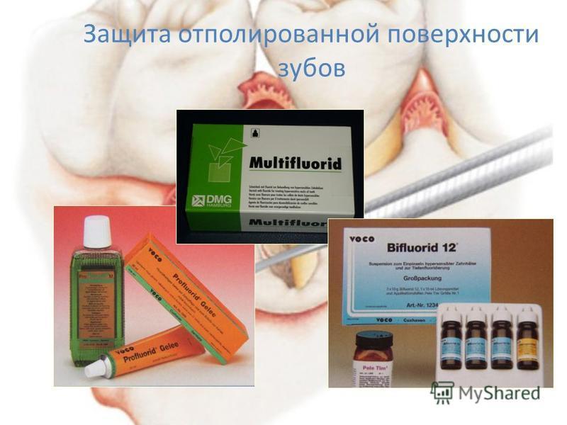 Защита отполированной поверхности зубов