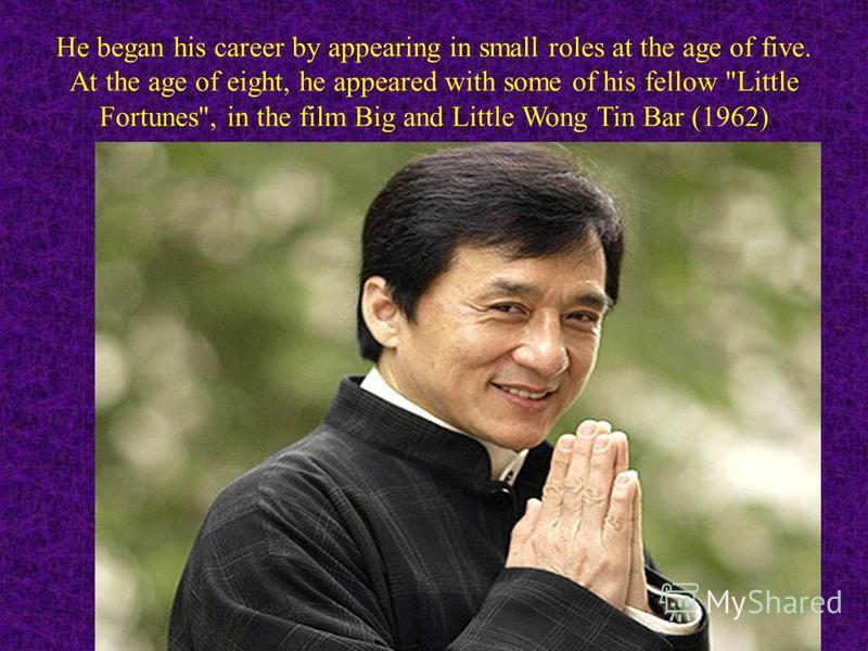 He began his career by appearing in small roles at the age of five. At the age of eight, he appeared with some of his fellow Little Fortunes, in the film Big and Little Wong Tin Bar (1962)