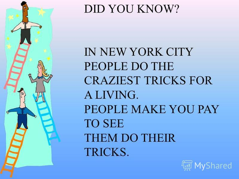 DID YOU KNOW? THE EMPIRE STATE BUILDING ISNT THE TALLEST BUILDING IN NEW YORK CITY. THE TWIN TOWERS ARE REALLY THE TALLEST.