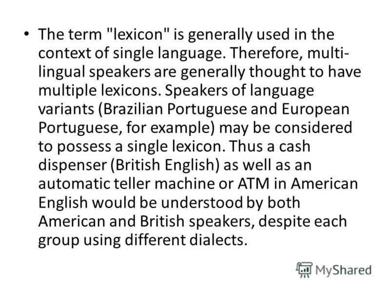 The term