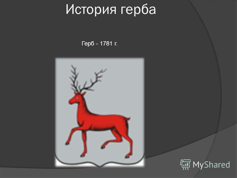 История герба Герб - 1781 г.