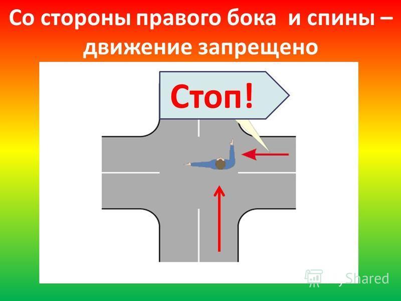 Стоп! Со стороны правого бока и спины – движение запрещено