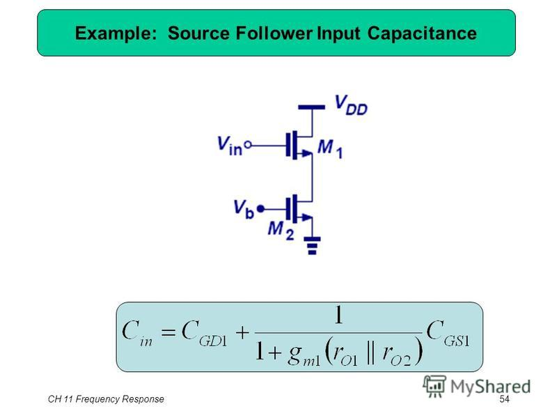 CH 11 Frequency Response54 Example: Source Follower Input Capacitance