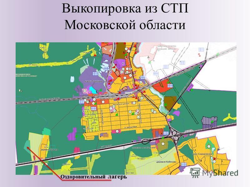 Выкопировка из СТП Московской области Оздоровительный лагерь