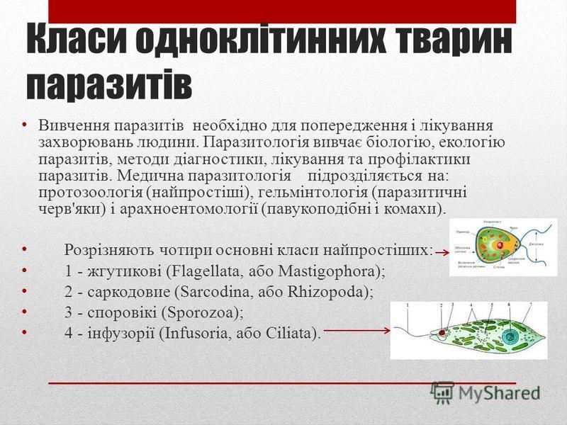 Види паразитів Організм господаря для паразита є джерелом живлення, місцем проживання, захистом від ворогів. Тіло господаря створює для паразитів сприятливий мікроклімат, не схильний до коливань, які є в природі. Паразити можуть бути тимчасовими, кол