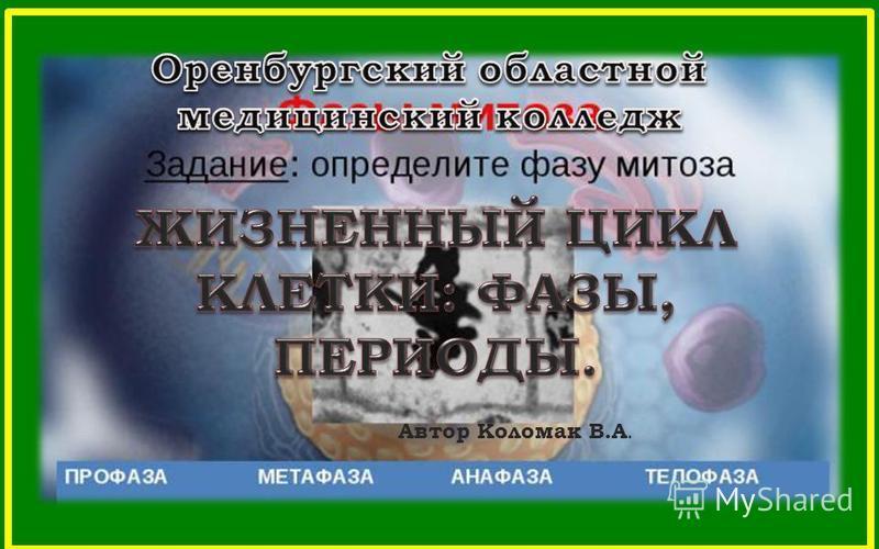 Автор Коломак В.А.