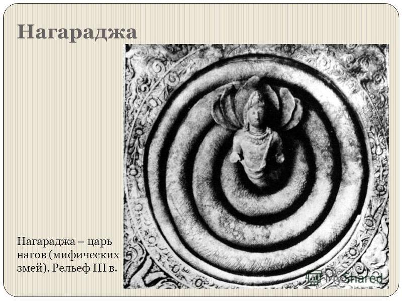 Нагараджа Нагараджа – царь нагов (мифических змей). Рельеф III в.