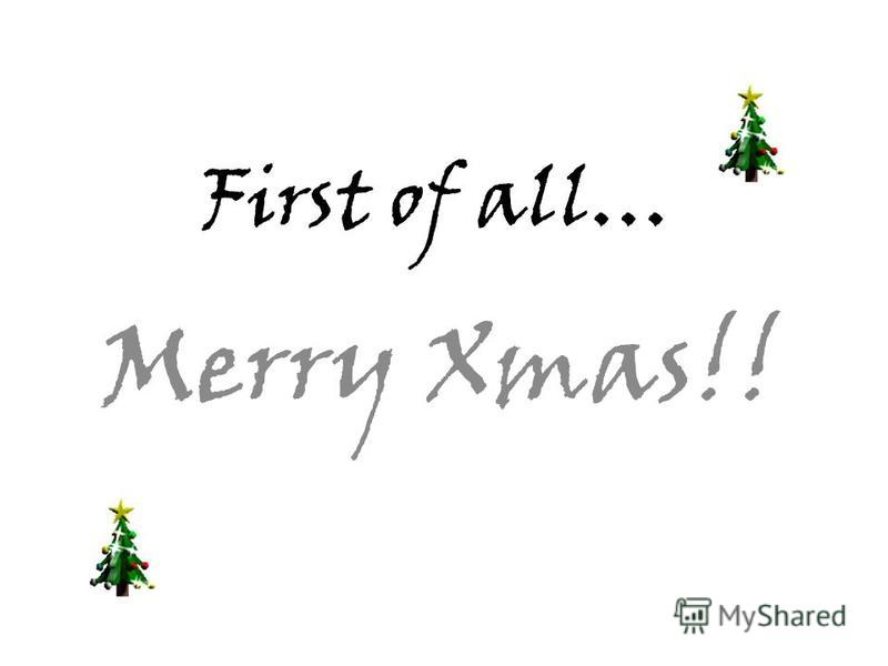 First of all… Merry Xmas!!