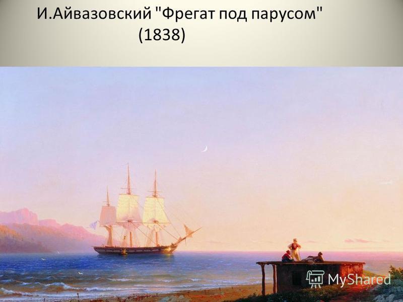 И.Айвазовский Фрегат под парусом (1838)
