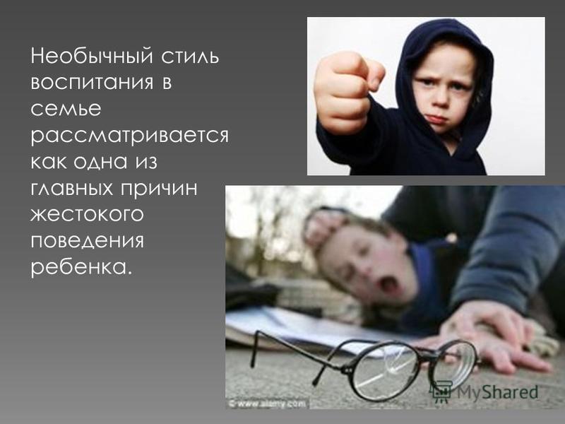 Необычный стиль воспитания в семье рассматривается как одна из главных причин жестокого поведения ребенка.
