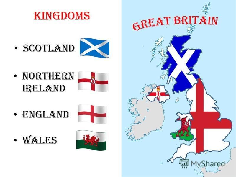 Scotland Northern Ireland England Wales Kingdoms