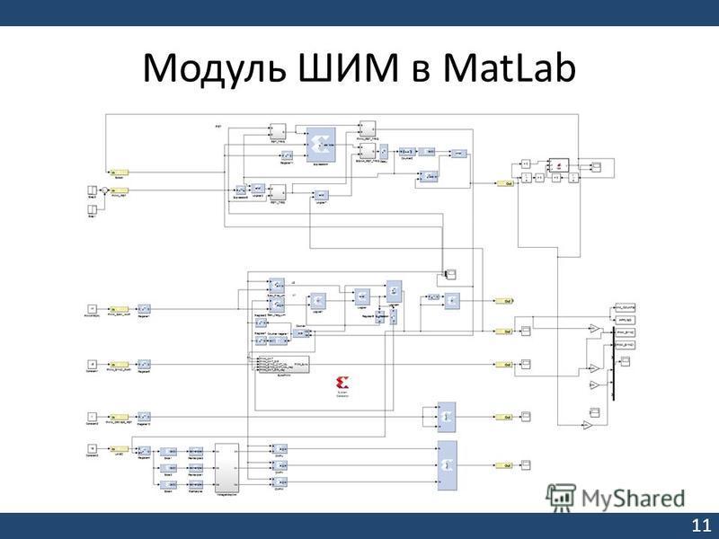 Модуль ШИМ в MatLab 11