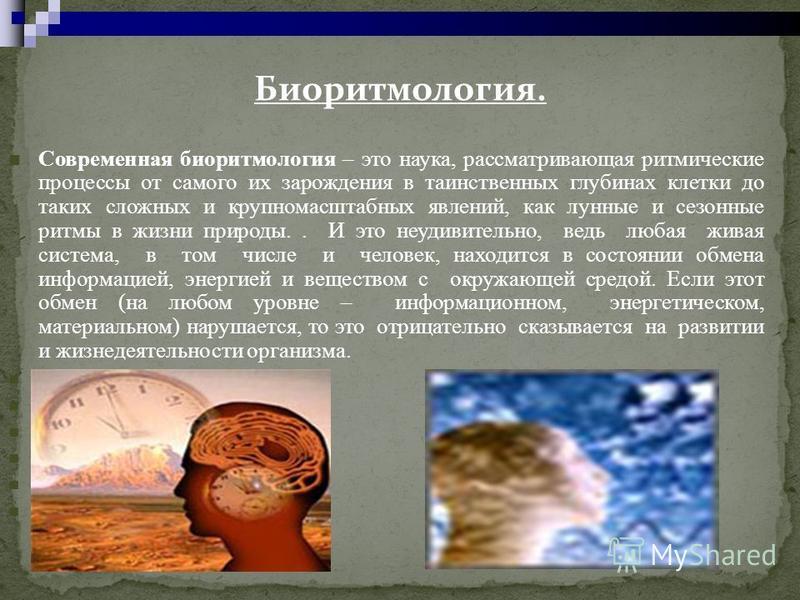 Биоритмология. Современная биоритмология – это наука, рассматривающая ритмические процессы от самого их зарождения в таинственных глубинах клетки до таких сложных и крупномасштабных явлений, как лунные и сезонные ритмы в жизни природы.. И это неудиви