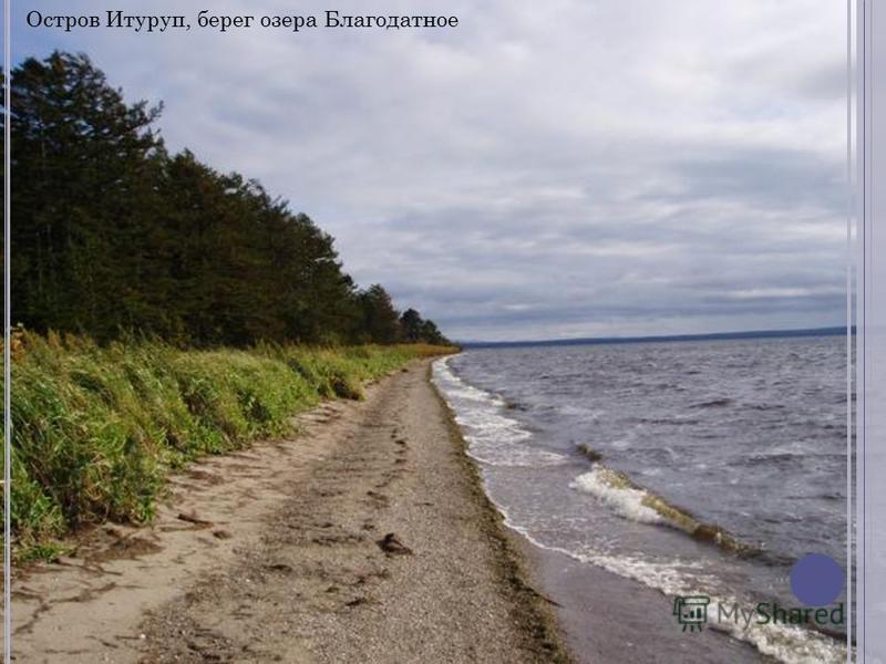 Остров Итуруп, берег озера Благодатное