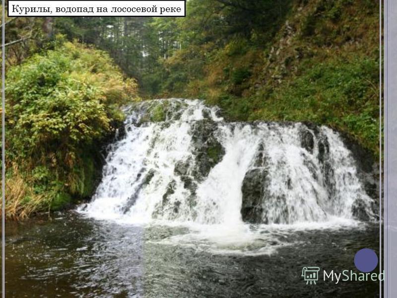 Курилы, водопад на лососевой реке