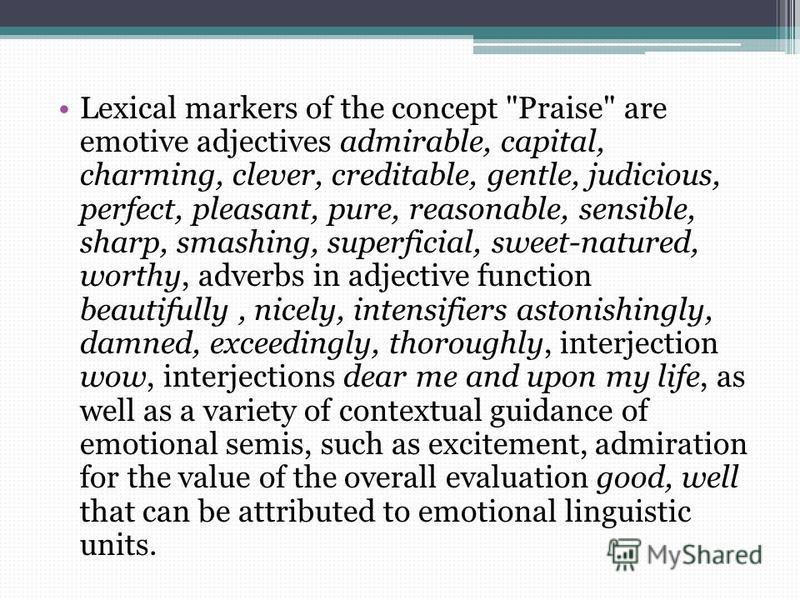 Lexical markers of the concept