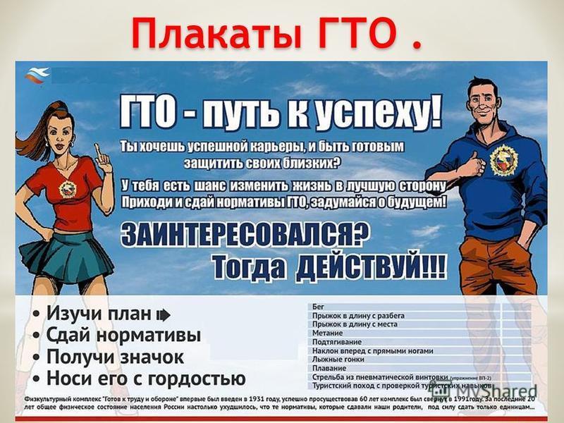 Плакаты ГТО.