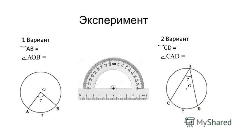 Эксперимент 1 Вариант ͝ АВ = АОВ = 2 Вариант ͝ СD = САD =