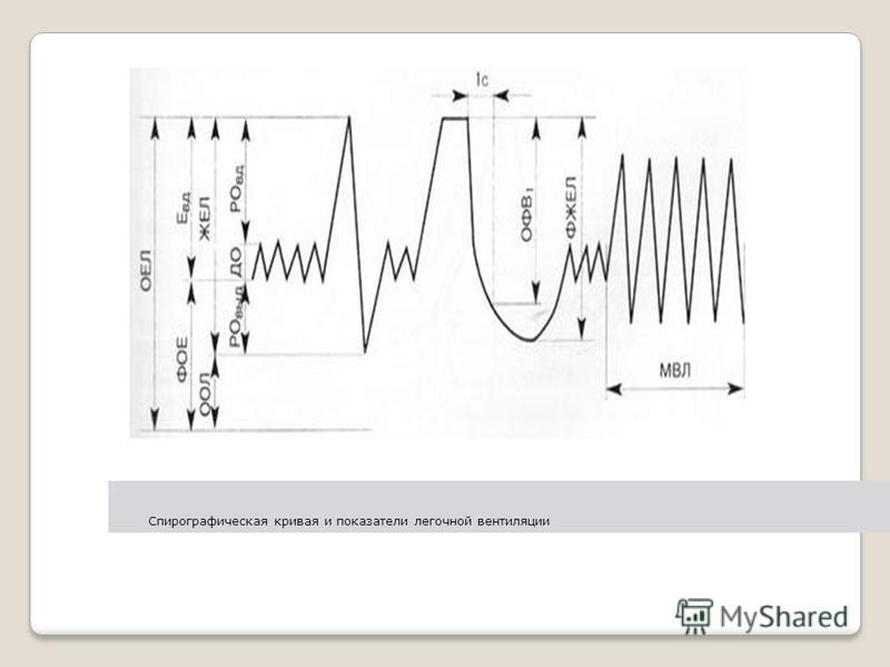 Спирографическая кривая и показатели легочной вентиляции