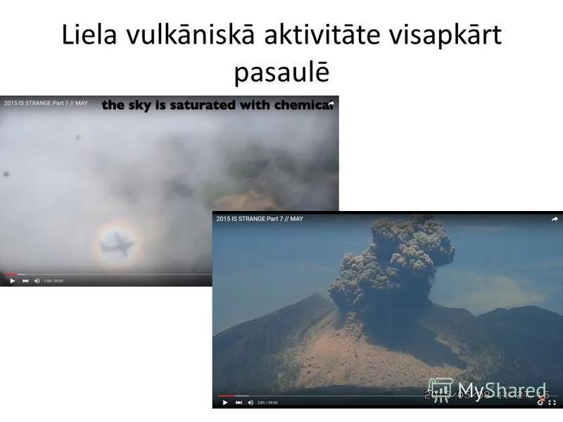 Liela vulkāniskā aktivitāte visapkārt pasaulē