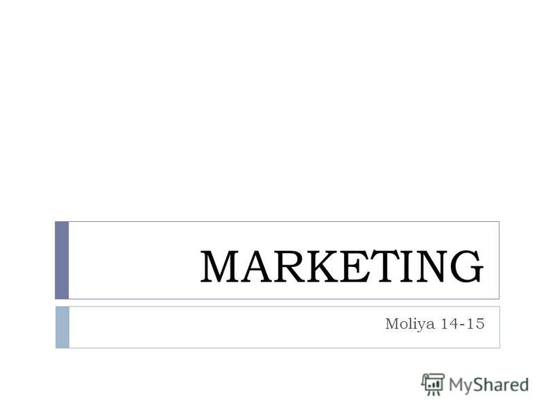MARKETING Moliya 14-15