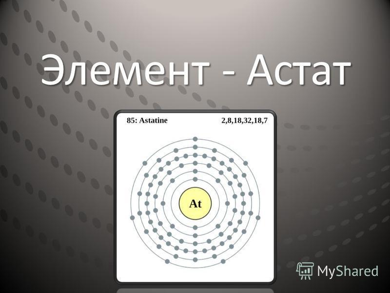 Элемент - Астат
