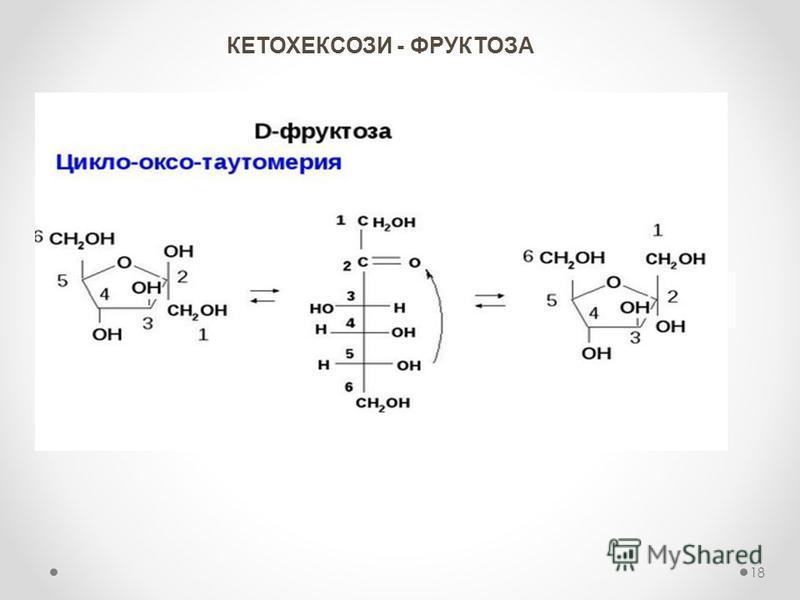 КЕТОХЕКСОЗИ - ФРУКТОЗА 18