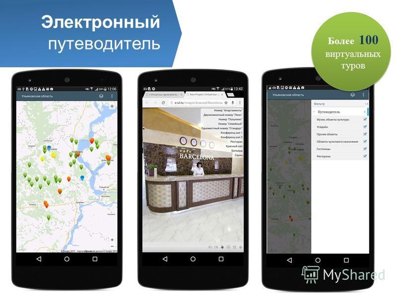 Электронный путеводитель Более 100 виртуальных туров