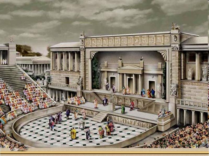 Зрители ели и пили в самом театре. Все были одеты в праздничные одежды, головы украшали венками. На Великих Дионисиях происходило громадное стечение горожан, к которым присоединялись еще и жители других городов-государств, приезжавшие со всей Греции.
