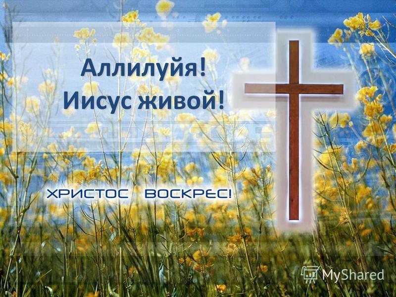 Аллилуйя! Иисус живой! Аллилуйя! Иисус живой!