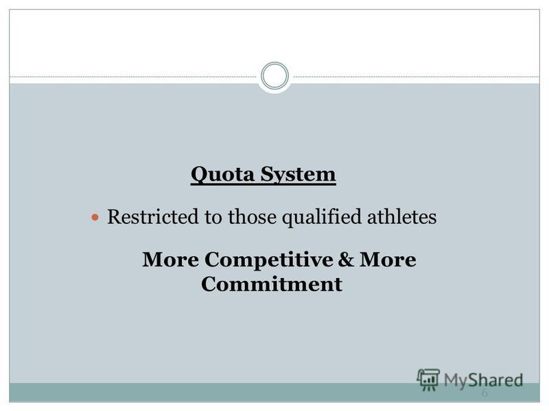5 Classification of Athletes Medical Classification System Functional Classification System Fairness vs Competitive