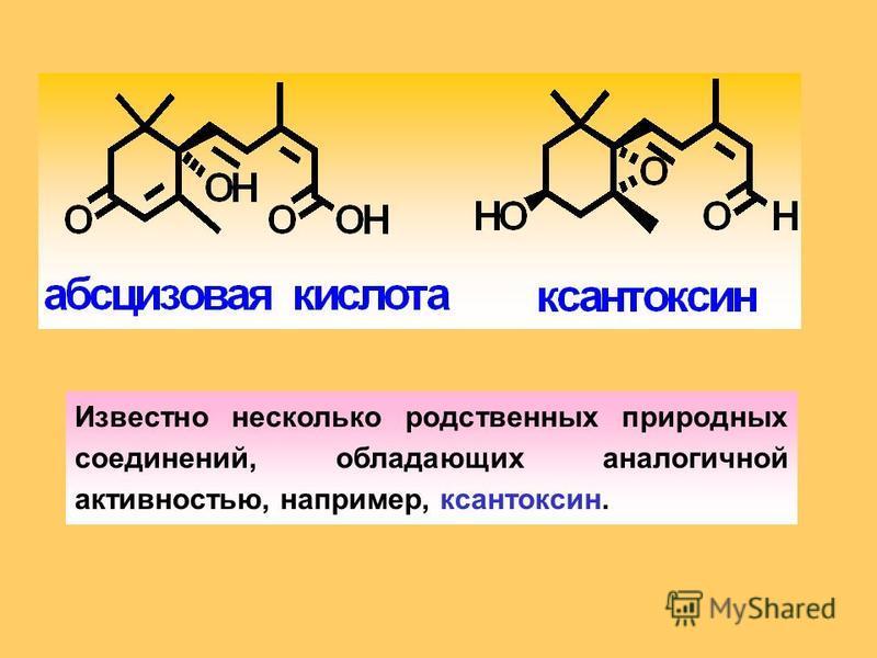 Известно несколько родственных природных соединений, обладающих аналогичной активностью, например, ксантоксин.