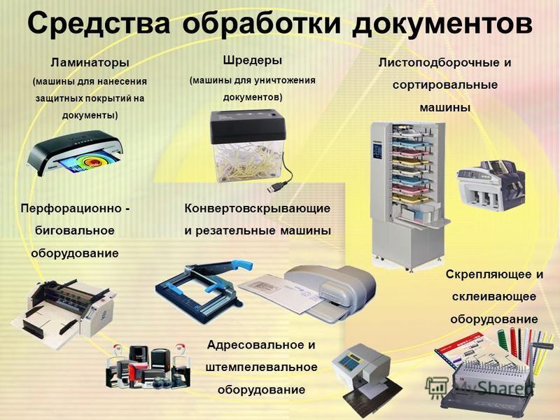 Средства копирования и размножения документов Копировальный аппарат Ризограф 16