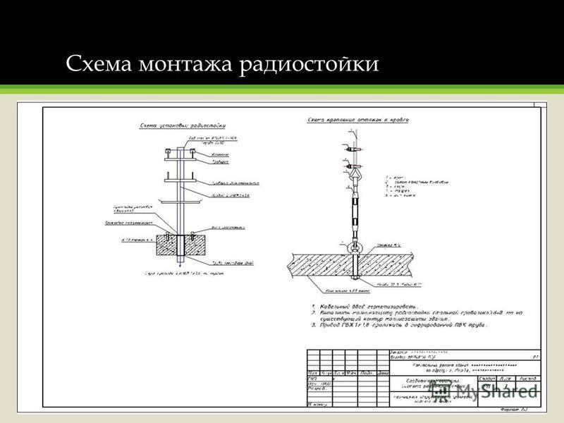 Схема монтажа радиостойки