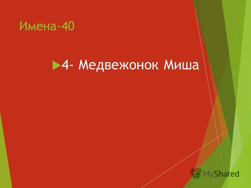 Имена-40 4- Медвежонок Миша