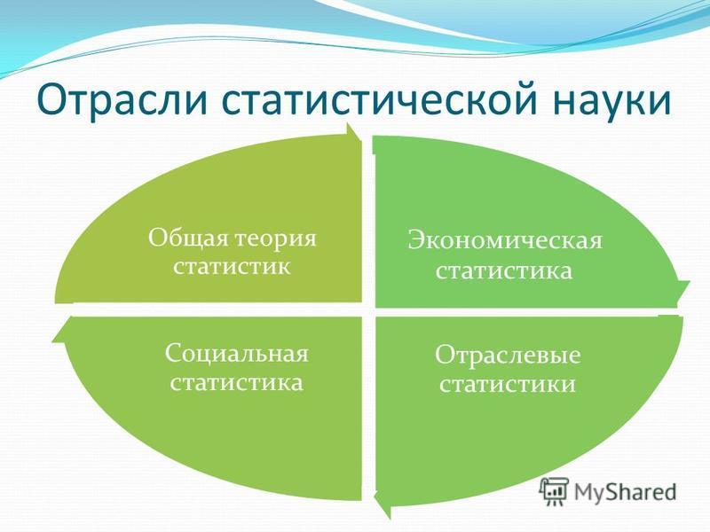 Отрасли статистической науки Экономическая статистика Отраслевые статистики Социальная статистика Общая теория статистик