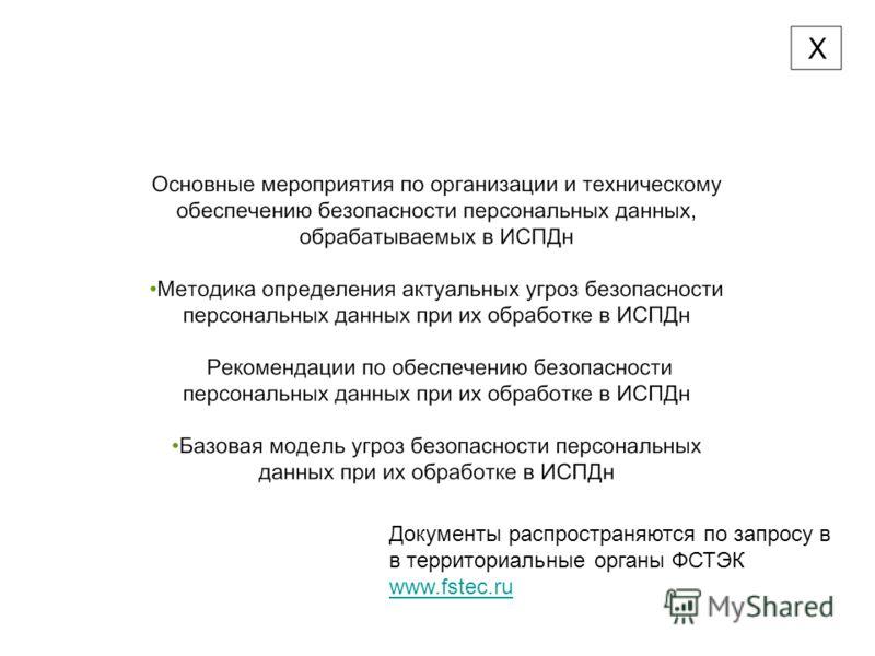 Документы распространяются по запросу в в территориальные органы ФСТЭК www.fstec.ru