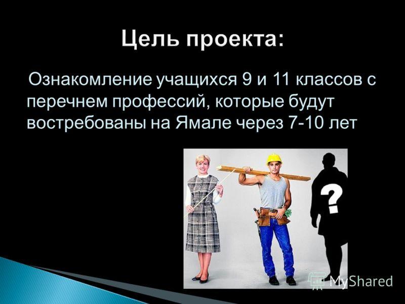 Ознакомление учащихся 9 и 11 классов с перечнем профессий, которые будут востребованы на Ямале через 7-10 лет
