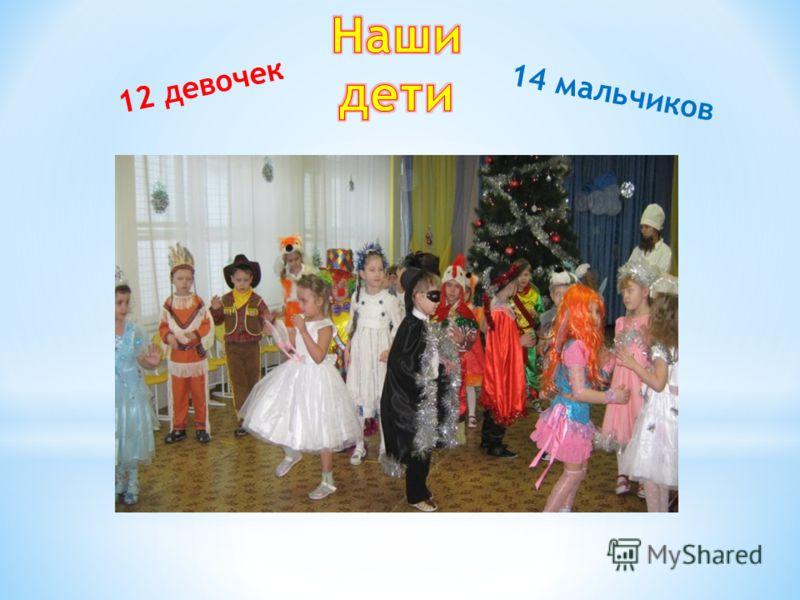 12 девочек 14 мальчиков