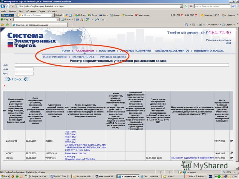 ГУП Агентство по госзаказу РТ Alsu@mail.agzrt.ru