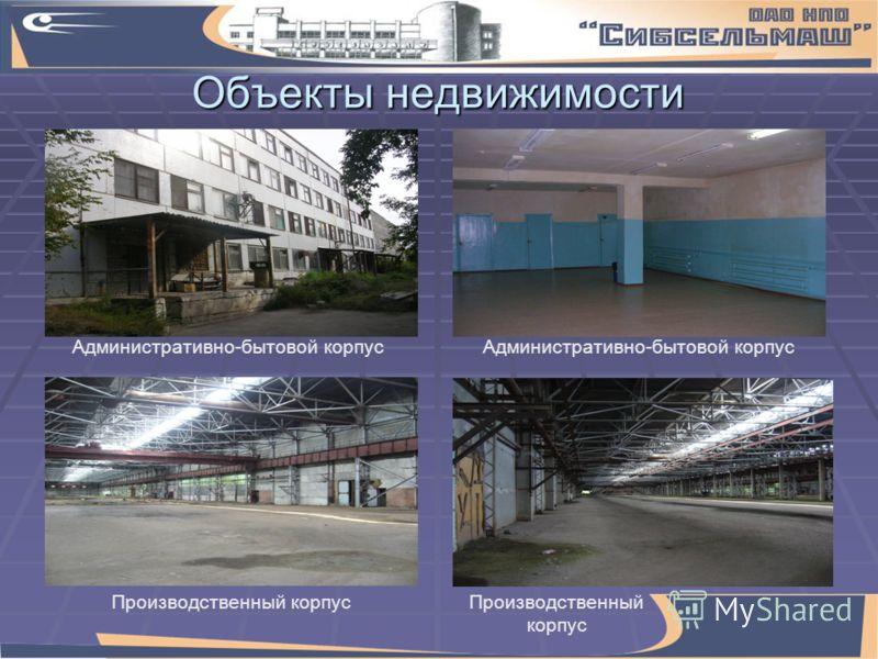 Объекты недвижимости Производственный корпус Административно-бытовой корпус