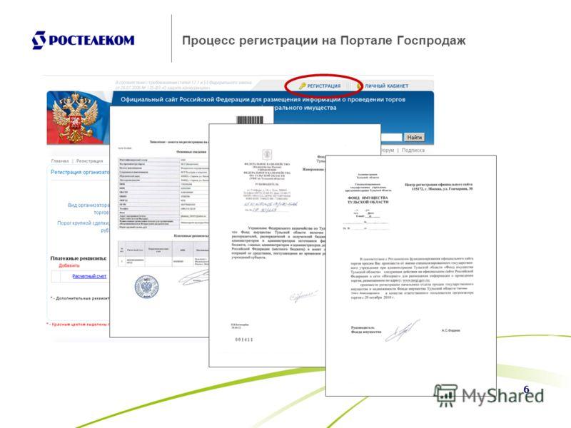 6 Процесс регистрации на Портале Госпродаж