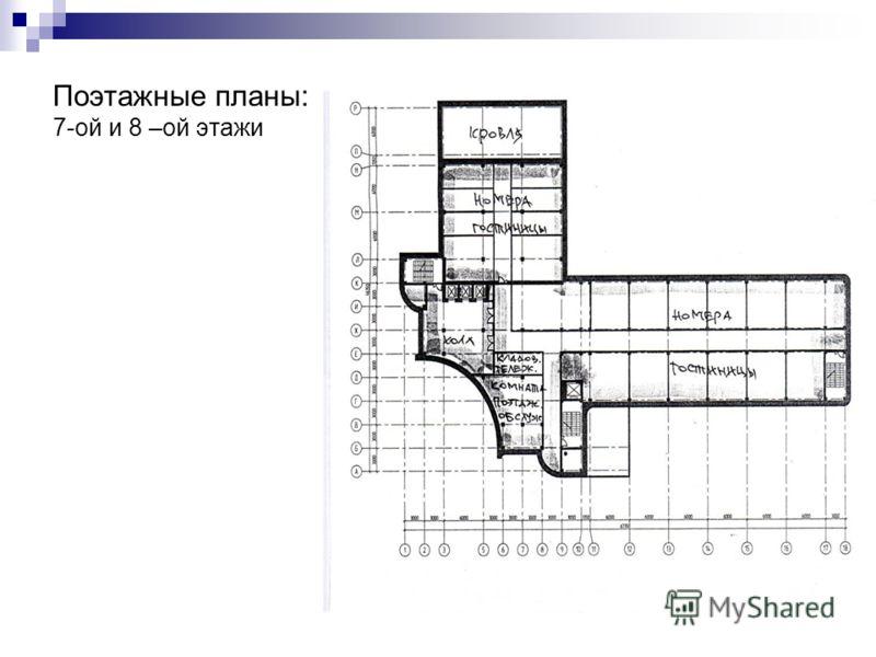 Поэтажные планы: 7-ой и 8 –ой этажи